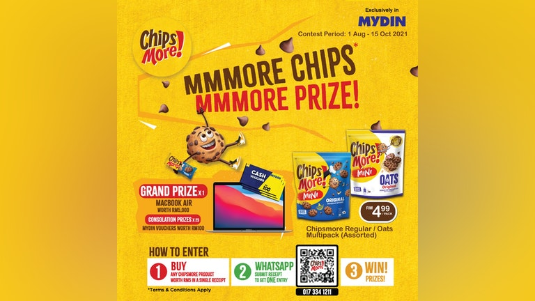 Chipsmore x Mydin More Chips More Prize Giveaway Contest