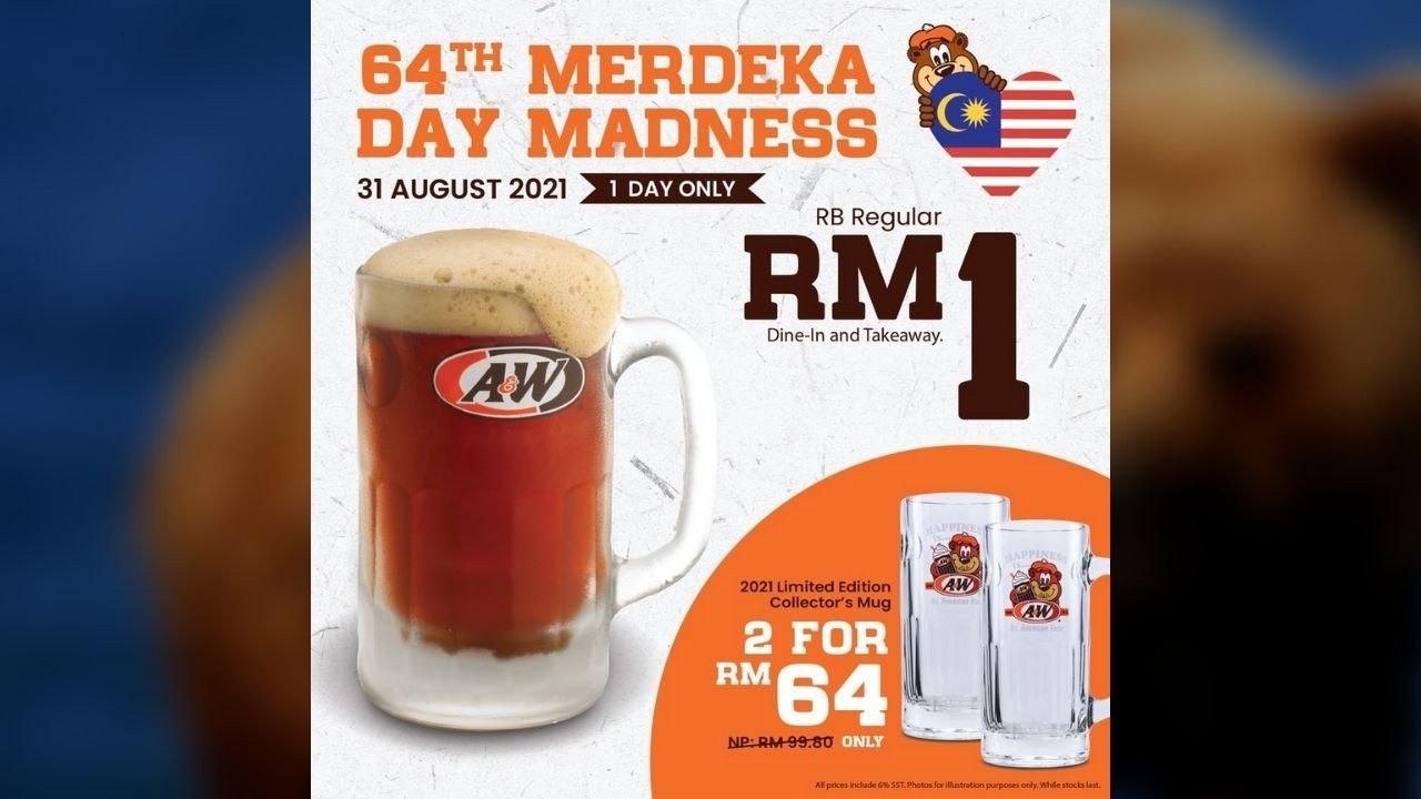 64th Merdeka Day Madness at A&W