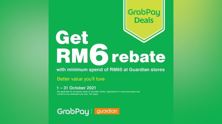 RM6 Rebate at Guardian with GrabPay