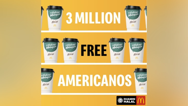 3 Million Free McCafe Americanos Giveaway