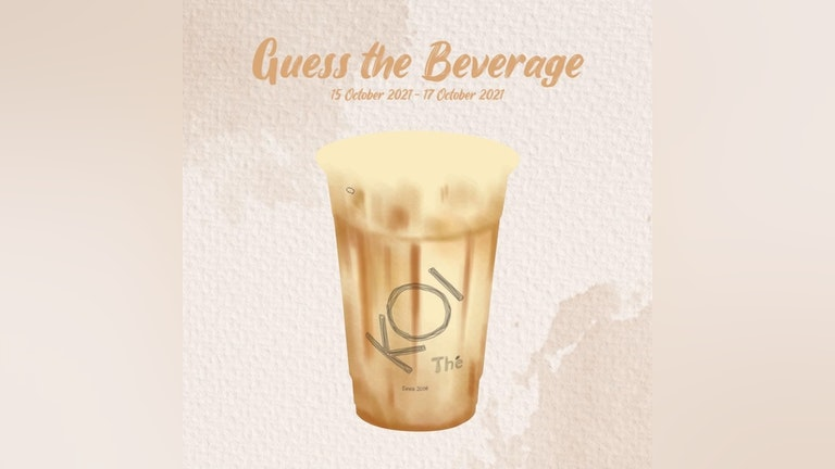 Guess the Beverage & Win a Drink from KOI